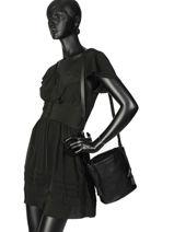 Bucket Bag Cabriole Leather Etrier Black cabriole ECABR04-vue-porte