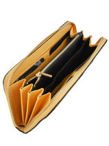 Wallet Leather Etrier Yellow kyo EKY901-vue-porte
