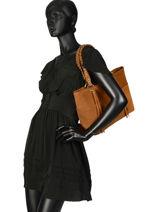 Shoulder Bag Obstacle Etrier Brown obstacle EOBS03-vue-porte