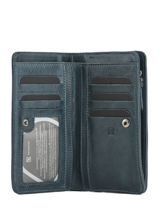 Wallet Leather Etrier Blue galop EGAL906-vue-porte