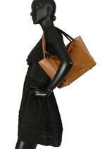 Shoulder Bag Jockey Etrier Brown jockey EJOC05-vue-porte