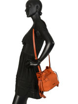 Cross Body Tas Jockey Etrier Oranje jockey EJOC07-vue-porte