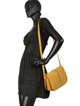 Crossbody Bag Natte Etrier Yellow natte ENTT01-vue-porte
