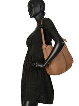 Shoulder Bag Natte Etrier Brown natte ENTT06-vue-porte