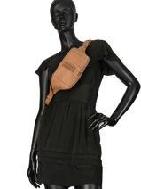 Fanny Pack Natte Leather Etrier Brown natte ENTT10-vue-porte