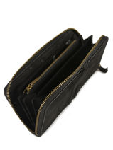 Leather Wallet Natte Etrier Black natte ENTT91-vue-porte