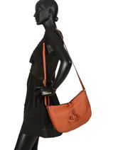 Cross Body Tas Tradition Leder Etrier Oranje tradition EHER2A-vue-porte