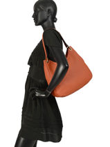 Shoulder Bag Tradition Leather Etrier Orange tradition EHER21-vue-porte