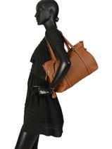 Leather Tote Bag Tradition Etrier Black tradition EHER25-vue-porte