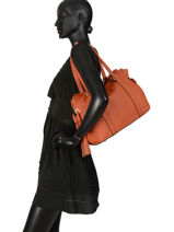 Shoulder Bag Tradition Leather Etrier Orange tradition EHER25-vue-porte