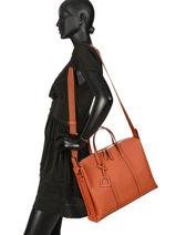 Leather Tradition Briefcase Etrier Orange tradition EHER81-vue-porte