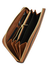 Wallet Leather Etrier Yellow tradition EHER91-vue-porte