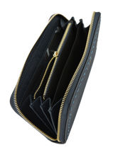 Wallet Leather Etrier Blue tradition EHER91-vue-porte