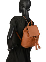 Backpack Etrier Brown tradition EHER26-vue-porte