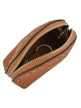 Purse Leather Etrier Beige tradition EHER92-vue-porte