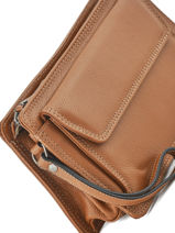 Messenger Bag 2 Compartments Etrier Brown flandres EFLA12-vue-porte