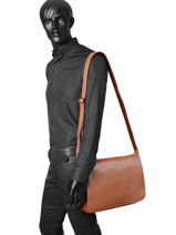 Messenger Bag 1 Compartment Etrier Brown flandres EFLA08-vue-porte