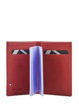 Card Holder Leather Etrier Red blanco 600013-vue-porte