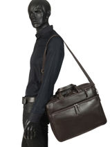 Briefcase And Backpack Etrier Brown foulonne EFOU02-vue-porte