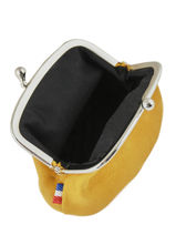 Purse Leather Etrier Yellow western 96918-vue-porte