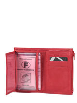 Purse Leather Etrier Red beverly 96468-vue-porte