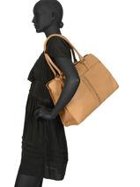 Sac Shopping Natte Cuir Etrier Marron natte ENTT12-vue-porte