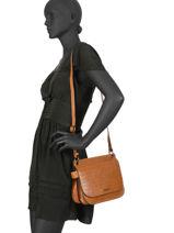 Shoulder Bag Darwin Leather Etrier Brown darwin EDAR03-vue-porte