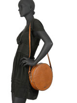 Shoulder Bag Darwin Leather Etrier Brown darwin EDAR07-vue-porte