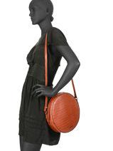 Large Shoulder Bag Darwin Leather Etrier Red darwin EDAR07-vue-porte