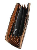 Wallet Leather Etrier Brown darwin EDAR91-vue-porte
