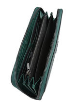 Leather Darwin Wallet Etrier Green darwin EDAR91-vue-porte