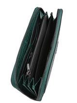 Wallet Leather Etrier Green darwin EDAR91-vue-porte