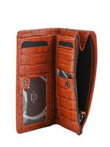 Wallet Leather Etrier Red darwin EDAR92-vue-porte