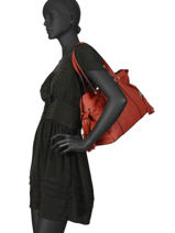 Leather Tote Bag Tradition Etrier Red tradition EHER25-vue-porte