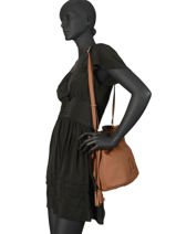 Leather Bucket Bag Tradition Etrier Brown tradition EHER29-vue-porte