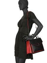 Shoulder Bag Escarpe Leather Etrier Black escarpe EESC03-vue-porte