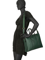 Leather Tradition Briefcase Etrier Green tradition EHER81-vue-porte