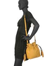 Medium Bucket Bag Wellington Leather Etrier Yellow wellington EWEL01-vue-porte