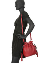 Medium Bucket Bag Wellington Leather Etrier Black wellington EWEL01-vue-porte