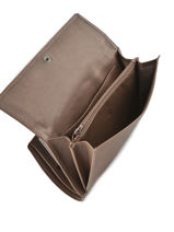 Continental Wallet Leather Etrier Brown blanco 600903-vue-porte