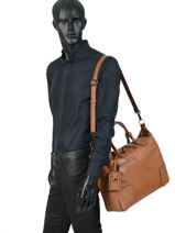 Leather Business Bag Manhattan Etrier Brown EMAN03-vue-porte