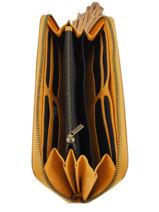 Wallet Leather Etrier Orange tornade ETOR91-vue-porte