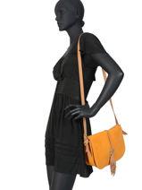 Crossbody Bag Tornade Leather Etrier Orange tornade ETOR01-vue-porte
