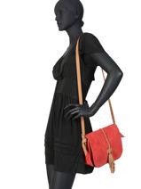 Crossbody Bag Tornade Leather Etrier Red tornade ETOR01-vue-porte