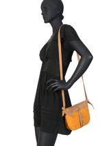 Crossbody Bag Tornade Leather Etrier Orange tornade ETOR05-vue-porte