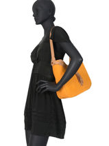 Shoulder Bag Tornade Leather Etrier Orange tornade ETOR06-vue-porte