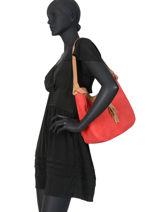 Shoulder Bag Tornade Leather Etrier Red tornade ETOR06-vue-porte