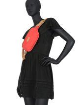 Leather Belt Bag Tornade Etrier Red tornade ETOR10-vue-porte