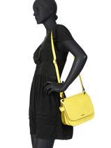 Shoulder Bag Darwin Leather Etrier Black darwin EDAR03-vue-porte