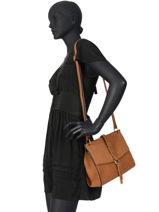 Shoulder Bag Obstacle Leather Etrier Brown obstacle EOBS07-vue-porte